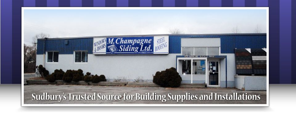 Sudbury's Trusted Source for Building Supplies and Installations - business front